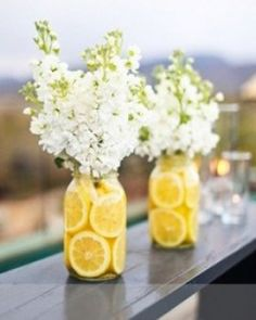 [DIY] Centre de table citronné