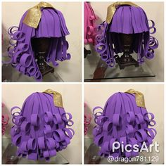 Image by Discover all images by Find more awesome images on PicsArt. Crazy Hat Day, Crazy Hats, Mode Origami, Diy Costumes, Halloween Costumes, Diy For Kids, Crafts For Kids, Foam Wigs, Fancy Dress