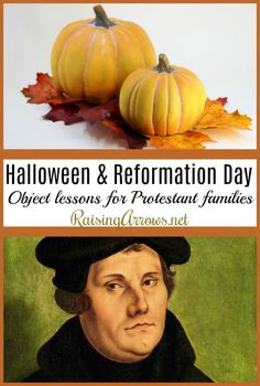 Celebrate Halloween and Reformation Day with a Christian perspective! From Scripture lessons, and food and crafts, to church history of Martin Luther, these fun activities will become family traditions! Reformation Day, Protestant Reformation, Marthin Luther, Martin Luther Reformation, Christian Halloween, Autumn Activities, Fun Activities, Object Lessons, Lessons For Kids