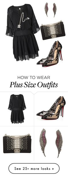 """""""plus designer"""" by joycelynheartsbty on Polyvore featuring Socheec, Christian Louboutin and Chanel"""