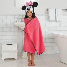 Disney's Minnie Mouse Bath Wrap by Jumping Beans, Pink