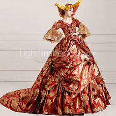 steampunk®georgian Red Victorian Kleid Kleid Marie Antoinette wholesalelolita…