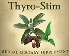 THYRO-STIM Combination of tonic herbs rich in nutrients that nourish and support healthy thyroid function. Warning: Do not take with thyroid medication. Do not use this formula if you have a Hyper- thyroid (over-active) condition.