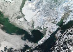 NASA Satellite Captures Snow Covered Alaska
