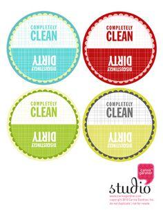 How neat is this to put on your dishwasher. Download the free printable and print on magnet paper.