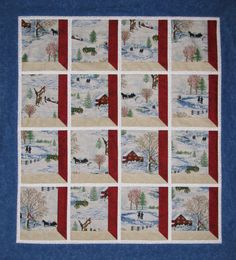 Attic Window Walll Hanging or Lap Quilt. Maine Quilt Company www,mainequiltcom. Log Cabin Quilt Pattern, Quilt Block Patterns, Quilt Blocks, Quilting Tutorials, Quilting Projects, Quilting Designs, Attic Window Quilts, Snowman Quilt, Winter Quilts