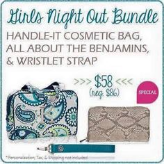 Thirty-One Gifts - Girls Night Out! #ThirtyOneGifts #ThirtyOne #JewellByThirtyOne #Monogramming #Organization #JanuarySpecial