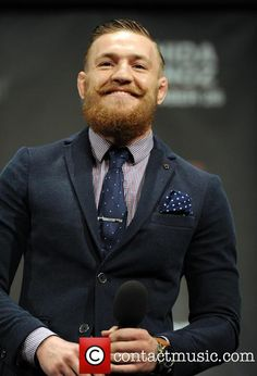 Conor Mcgregor - Crazy MMA Fighter in Dapper Outfit Connor Mcgregor, Conor Mcgregor Suit, Mcgregor Suits, Notorious Conor Mcgregor, Dapper Suits, Mens Suits, Moustaches, Real Style, My Style
