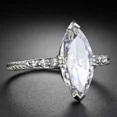 Art Deco 1.41 Carat Marquise Diamond Engagement Ring image 2