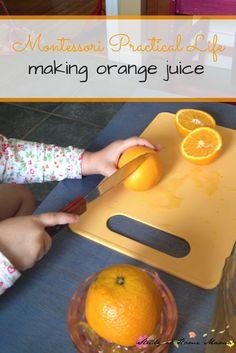 Montessori Practical Life Lesson: Squeezing Orange Juice ⋆ Study at Home Mama