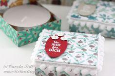 Pizzakarton Teelicht Verpackung Stampin Up 2