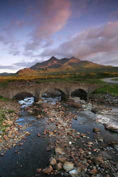 The Old Bridge at Sligachan, Isle of Skye, Inner Hebrides. Scotland