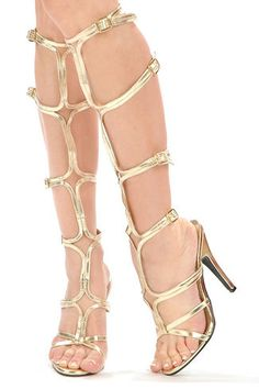 gold gladiator shoes- don't know if I'd ever were them, but I love, love them!