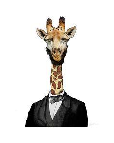Abraham Lincoln. As a Giraffe.  -Fine Art Print