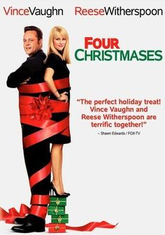 Four Christmases (2008) Academy Award winner Reese Witherspoon teams up with Vince Vaughn for this romantic comedy that casts them as a dating couple who are forced to spend their first Christmas together visiting each of their four divorced parents -- in a single day. Seth Gordon directs an all-star cast that includes Robert Duvall, Sissy Spacek, Mary Steenburgen, Dwight Yoakam, Carol Kane, Jon Favreau and Tim McGraw.