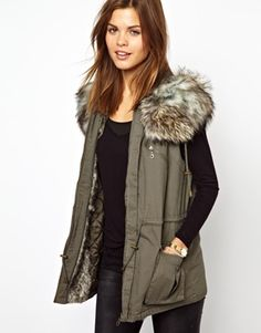 French Connection Frieda Sleeveless Parka