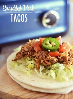 Sherred pork tacos