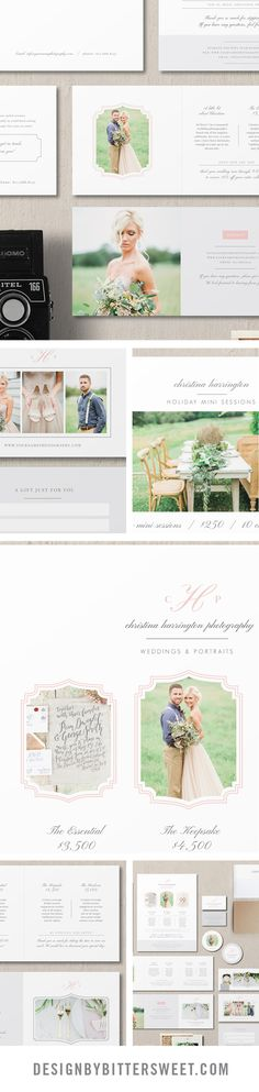 Photographer welcome packet. Wedding pricing templates. Attract your dream clients with our fully customizable Photoshop templates. Save time and money and take complete control of your marketing. Beautiful images by @sharonnicole