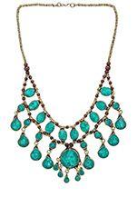 Ettika Multi Layer Necklace in Silver & Turquoise | REVOLVE