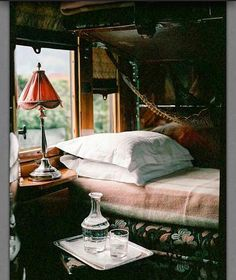 The Orient express   #orientexpress #train #trainride #luxe #luxury #design #decor #traveling #travel #bed #sleepingcar #stylish  #style #living #lifestyle #interiordecor #interiordesign #interiors #elegant #railways #rich #posh #