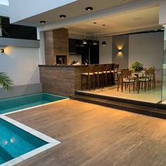 trending small pool designs for your backyard 33 Backyard Pool Designs, Small Backyard Pools, Swimming Pools Backyard, Backyard Patio, Backyard Ideas, Garden Ideas, Villa Design, Modern House Design, Outdoor Kitchen Design