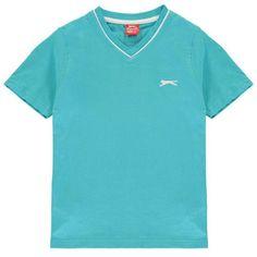 Slazenger V Neck T Shirt Junior Boys Bright Blue Kids Outfits, Summer Outfits, Shirt Bluse, Kids Boys, V Neck T Shirt, Short Sleeves, Mens Tops, Clothes, Europe