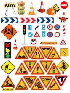 Gommettes à partager età Imprimer sur papier Autocollant pour vos activités Retrouver toutes les gommettes ici  ------------------------------------------ ------------------------------------------- ... Construction Theme Classroom, Construction Birthday Parties, Classroom Themes, New Drivers, 3rd Birthday, Street Art, Crafts For Kids, Birthdays, Scrapbook