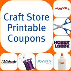Craft Store Printable Coupons - Check back every week for an updated list of printable coupons at your favorite craft stores!