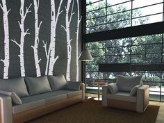 Das Wandtattoo in XXL Format für die ganze Wand. Die Bäume können einzeln in beliebiger Reihenfolge platziert und aufgeklebt werden.  Das Muster w...