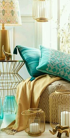 Turquoise + Gold •~• home accessories