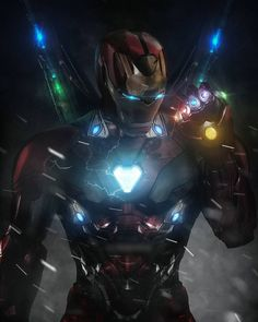 Iron Man with Infinity Gauntlet Marvel Dc Comics, Marvel Avengers, Marvel Fanart, Iron Man Avengers, Bd Comics, Marvel Heroes, Marvel Characters, Marvel Movies, Captain Marvel