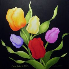 Orig. Acrylic painting, 20 x 20 in. on canvas. Great Gift for Easter or Mother's Day.