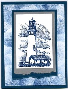 Lighthouse using Stampin' Up! Coast to Coast retired stamp set.