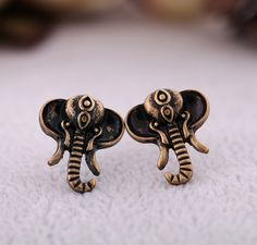 Vintage Elephant Shape Alloy Stud Earrings - View All - New In