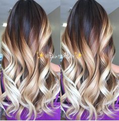 Low Root ❤Coffee and Creme toned ✨PaintedHair✨👸🏼. This is created by sessions of 💦Wet Balayage💦. of course results vary for each… Corte Y Color, Balayage Hair Blonde, Hair Dye Colors, Hair Painting, Love Hair, Hair Highlights, Hair Dos, Hair Trends, Dyed Hair