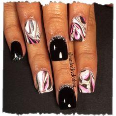 Watermarble Diamonds by  nailedbydeshea