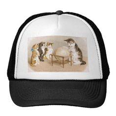 Cartographer Cat and Three Kittens Trucker Hat