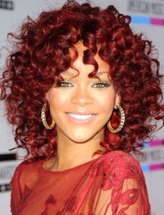 Fashion icon Rihanna Check out on http://www.aliwigs.com/rihanna-hot-selling-short-curly-glueless-lace-front-human-hair-wig-with-bangs.html