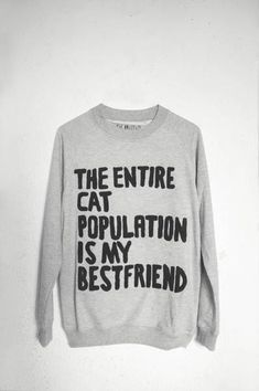 cat sweatshirt.