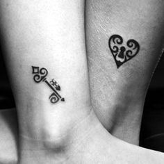 61 Impressive Lock and Key Tattoos This one is simple and sweet.