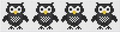 Cross Stitch Owl, Cross Stitch Charts, Cross Stitch Designs, Cross Stitching, Cross Stitch Embroidery, Cross Stitch Patterns, Knitted Mittens Pattern, Fair Isle Knitting Patterns, Knit Mittens