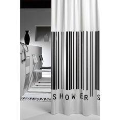 Zasłona prysznicowa i #kodkreskowy :)  #łazienka #inspiracje #decor #dodatki #inspiraton #bathroom #barcode
