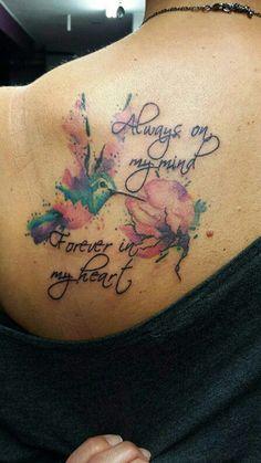 hummingbird tattoo for women