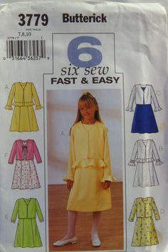 Butterick 3779 Girls' Jacket and Dress