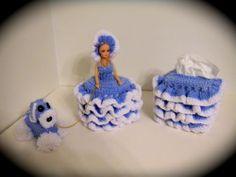 Bath Set Tissue Paper Holder Soap Holder Doll Toilet Tissue Cover Crochet | eBay
