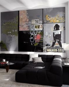 Decorate using oversized art – a few ideas and suggestions