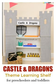 Castle and Dragons Theme Learning Activities and Learning Shelf - Happy Tot Shelf Toddler Learning Activities, Kindergarten Activities, Toddler Preschool, Preschool Lesson Plans, Preschool Themes, Education And Development, Early Education, Child Development, Tot School