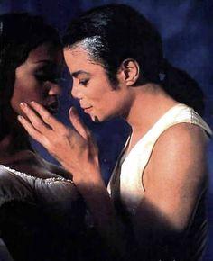 Michael Jackson and Naomi Campbell