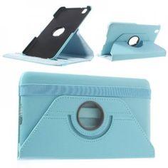 Περιστρεφόμενη Θήκη Βιβλίο με Βάση Στήριξης για Samsung Galaxy Tab Pro 8.4 T320 γαλάζιο