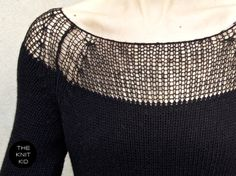 black knit dress       ♪ ♪ ... #inspiration #crochet  #knit #diy GB